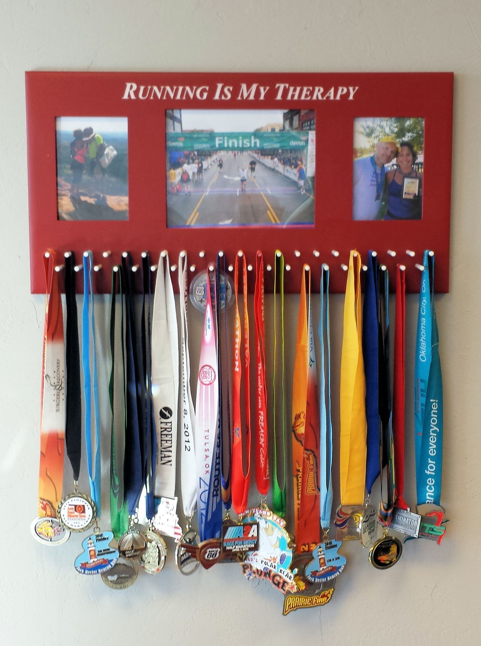 Painted and Engraved Medal Rack